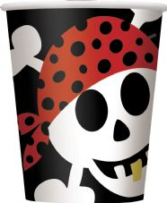 8 Pirate Fun Paper Party Cups